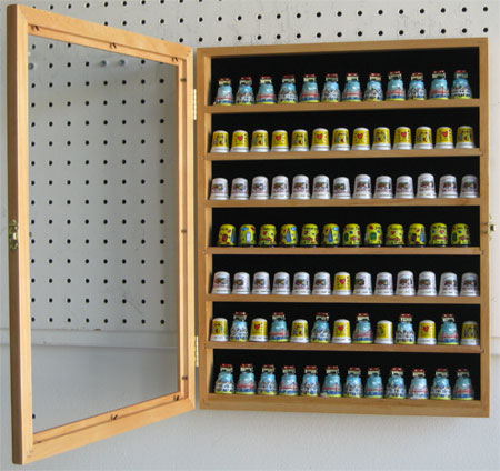 Thimble Amp Minatures Display Cabinet With Glass Door Amp 7